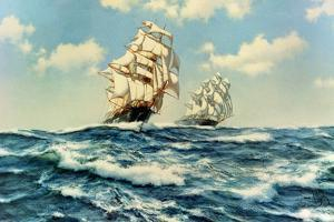 The China Tea Run, Clippers 'Ariel' and 'Taeping', c.1993 by James Brereton