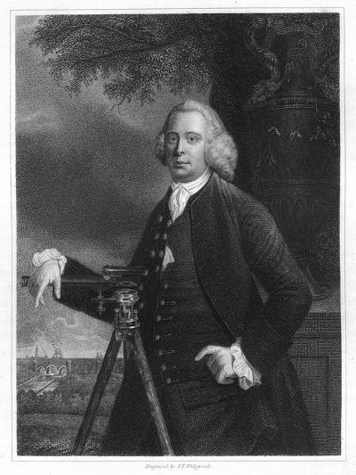 James Brindley, 18th Century English Civil Engineer and Canal Builder-JT Wedgwood-Giclee Print
