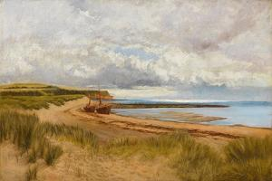 When the Tide Is Low - Maer Rocks, Exmouth, C.1870 by James Bruce Birkmyer