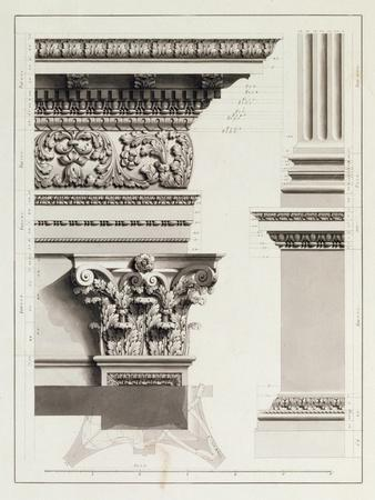 Elevation of Pedestal Entablature of the Arch at Tripoli