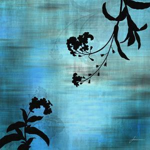 Aqua Floral I by James Burghardt