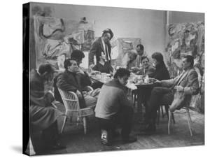 Abstract Artists in Group Discussion in the East 10th St Studio of Milton Resnick by James Burke