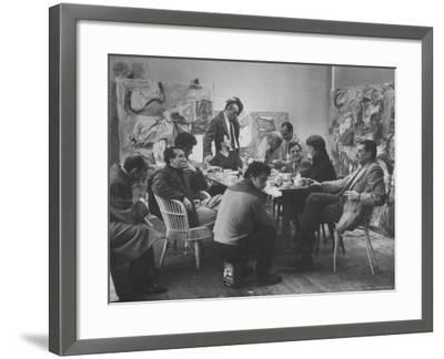 Abstract Artists in Group Discussion in the East 10th St Studio of Milton Resnick
