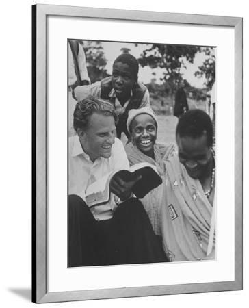Evangelist Billy Graham Explains Bible to Waarusha Warriors