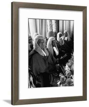 Judges Waiting to Meet Queen Elizabeth II