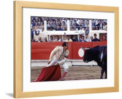 Matador Luis Miguel Dominguin Performing During a Mano a Mano Bullfight at the Bayonne Bullring