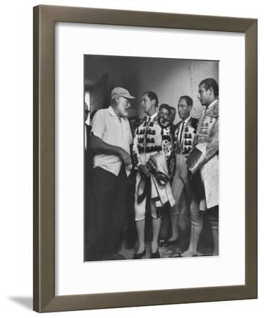 Matador Luis Miguel Dominguin with American Writer Ernest Hemingway