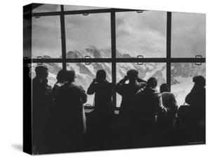 Tourists Viewing the Alps by James Burke