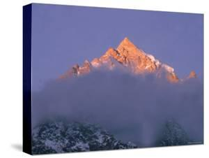 View of Himalayan Mountaintop by James Burke