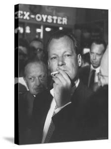 Willy Brandt Arriving for Foreign Ministers Conference by James Burke
