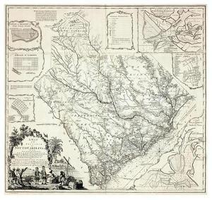 Map of the Province of South Carolina, c.1773 by James Cook
