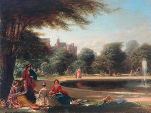 Hampton Court, the Fountain by James Digman Wingfield