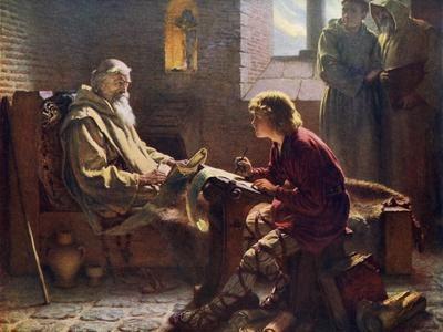 The Venerable Bede Translating the Last Chapter of St John, 1926