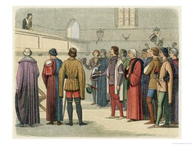 Richard III Invited to Accept the Crown by Buckingham at Baynards Castle