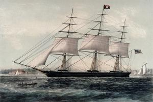 Clipper Ship Nightingale 1854 by James Edward Buttersworth