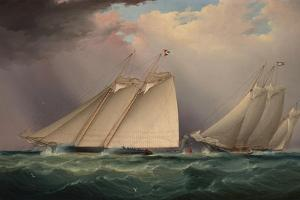 Dauntless and Sapho Rounding the Mark by James Edward Buttersworth