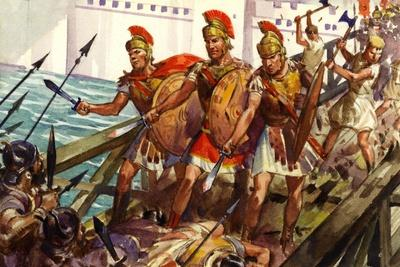 Horatius Cocles Defending the Pons Sublicius