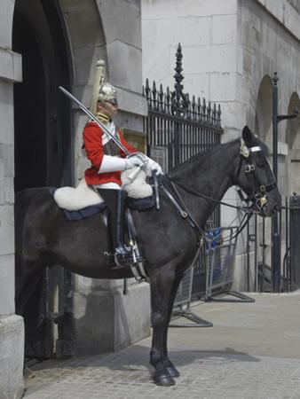 A Horse Guard in Whitehall, London, England, United Kingdom, Europe