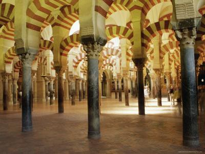 Arches in the Interior of the Great Mosque, Cordoba, Unesco World Heritage Site, Andalucia, Spain