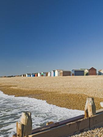 Beach Huts, Hayling Island, Hampshire, England, United Kingdom, Europe