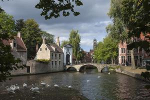 Bridge and Gateway to Begijnhof, Bruges, UNESCO World Heritage Site, Belgium, Europe by James Emmerson