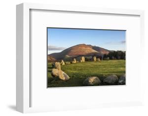 Castlerigg Stone Circle, Saddleback (Blencathra) behind, Lake District National Park, England by James Emmerson
