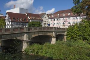 Donau Bridge, crossing the River Danube, Donauschingen (Donaueschingen), Black Forest, Baden-Wurtte by James Emmerson
