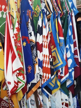 Flags and Banners, Siena, Tuscany, Italy, Europe