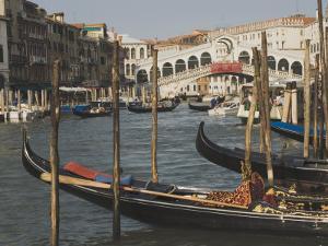 Gondolas, Grand Canal and Rialto Bridge, Venice, Unesco World Heritage Site, Veneto, Italy by James Emmerson