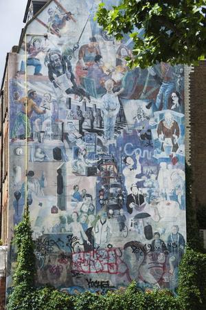 Graffito Wall Off Tottenham Court Road, London, England, United Kingdom, Europe