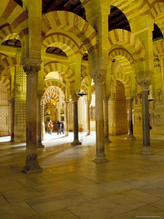 Interior of the Great Mosque (Mezquita) and Cathedral, Unesco World Heritage Site, Cordoba, Spain