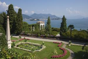 Lily pond, Isola Bella, Borromean Islands, Stresa, Lake Maggiore, Italian Lakes, Piedmont, Italy, E by James Emmerson