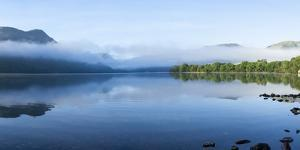 Morning Mist, Lake Ullswater, Lake District National Park, Cumbria, England, United Kingdom, Europe by James Emmerson