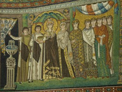 Mosaic Detail Within the Chiesa Di San Vitale, Ravenna, Emilia-Romagna