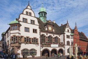 Rathaus, Rathausplatz, Freiburg im Breisgau, Black Forest, Baden-Wurttemberg, Germany, Europe by James Emmerson