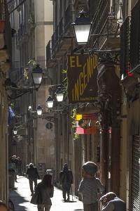 Street in the Old City, Barcelona, Catalunya, Spain, Europe by James Emmerson