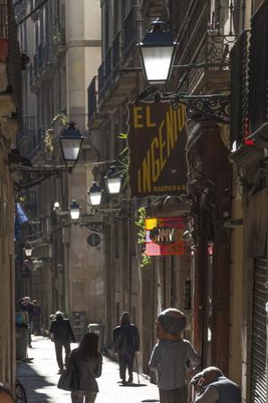 Street in the Old City, Barcelona, Catalunya, Spain, Europe