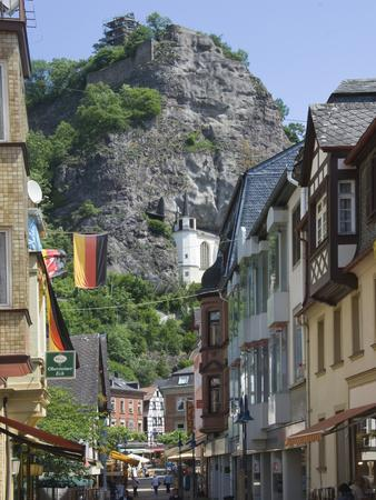 The Main Street with the Felsenkirche, Idar Oberstein, Rhineland Palatinate, Germany, Europe