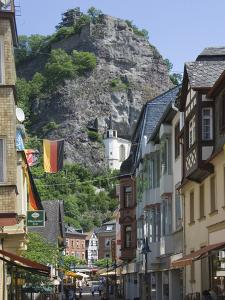 The Main Street with the Felsenkirche, Idar Oberstein, Rhineland Palatinate, Germany, Europe by James Emmerson