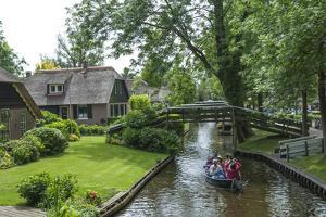 Tourists on the Canal at Giethorn, Holland, Europe by James Emmerson