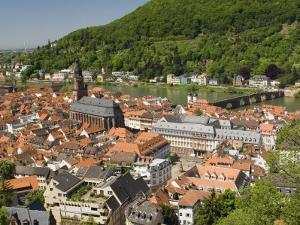 View from the Castle of the Old City, and the River Neckar, Heidelberg, Baden-Wurttemberg, Germany by James Emmerson