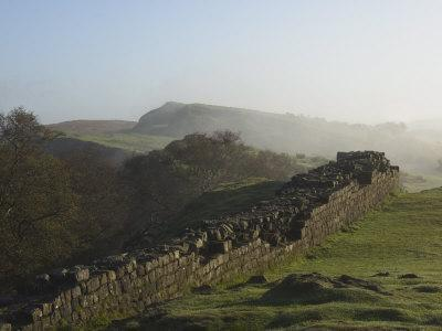 Walltown Crags Looking East, Hadrians Wall, UNESCO World Heritage Site, Northumberland, England