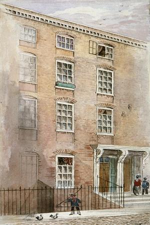 Houses in Crane Court, Near Fleet Street, City of London, 1840