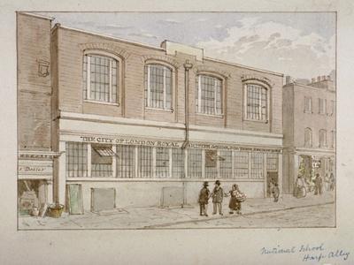 National School, Harp Alley, City of London, 1850