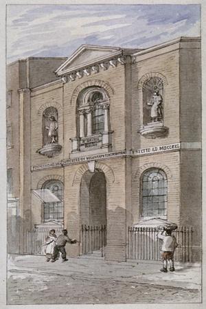 St Bride's Schools, Bride Lane, City of London, 1840
