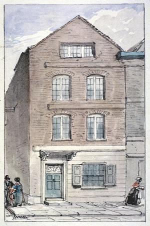 View of No 7 Blackhorse Alley, Fleet Street, City of London, 1850