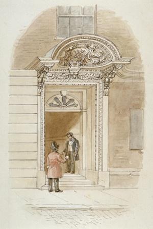 View of the Doorway of No 4 Mincing Lane, City of London, 1840