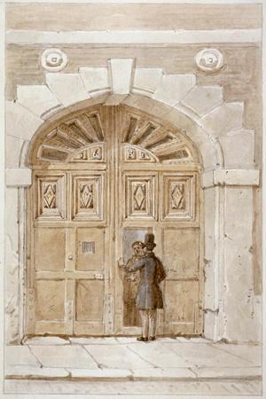 View of Wooden Gates Dated 1631, at No 46 Lime Street, 1855
