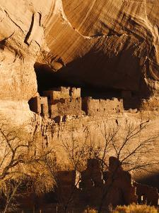 Ancient Navajo Cliff Dwellings in Canyon De Chelly by James Forte