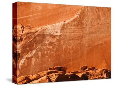Ancient Navajo Petroglyphs on the Cliffs at Canyon De Chelly